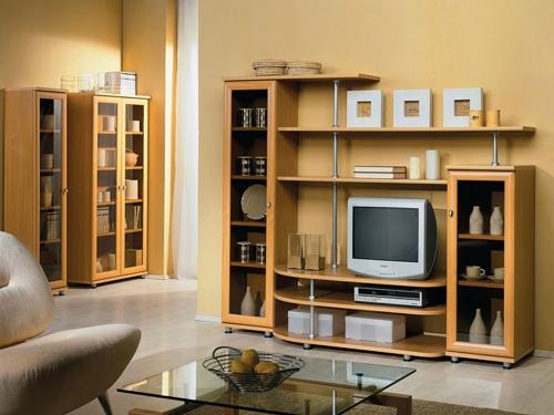 Мебель цвета бук в гостиной