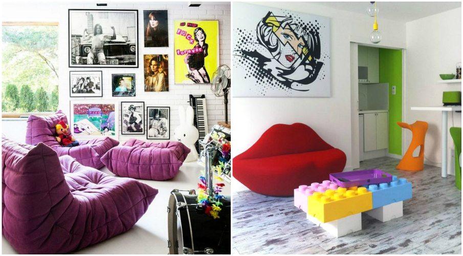Необычная мебель в стиле поп-арт