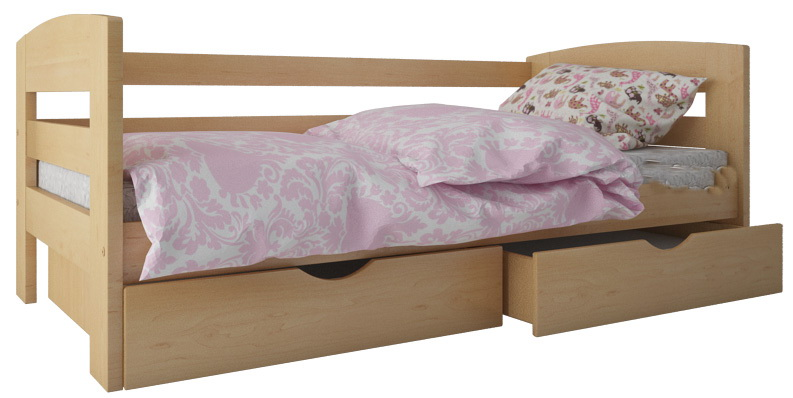 Односпальная кровать из массива бука