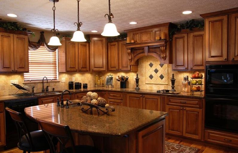 Оригинальная коричневая кухня