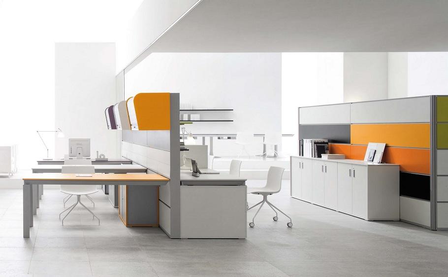 Пример расстановки мебели в офисе
