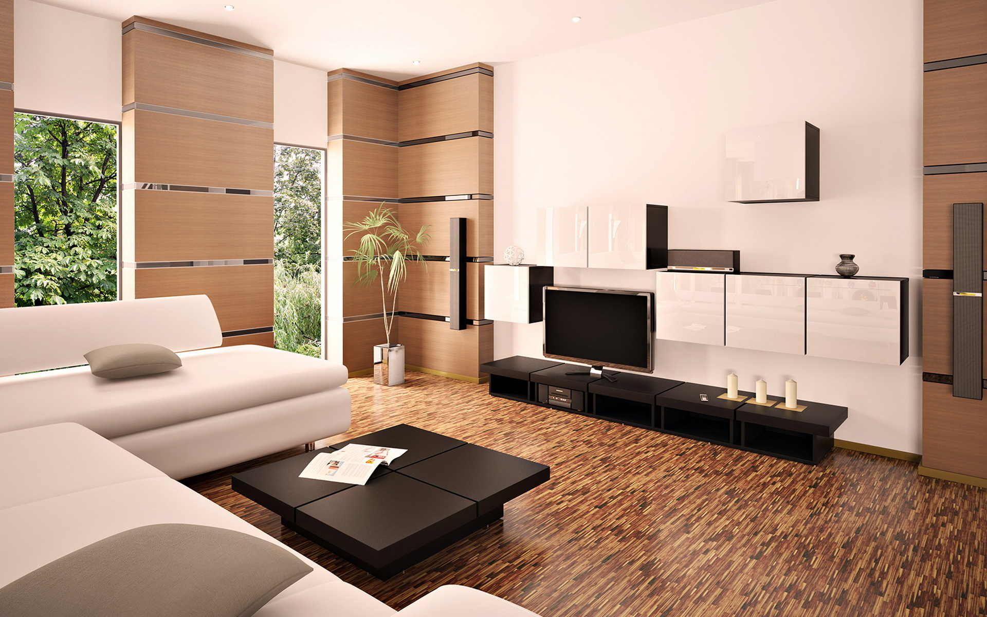 Разнообразие размеров и пропорций тумб под телевизор