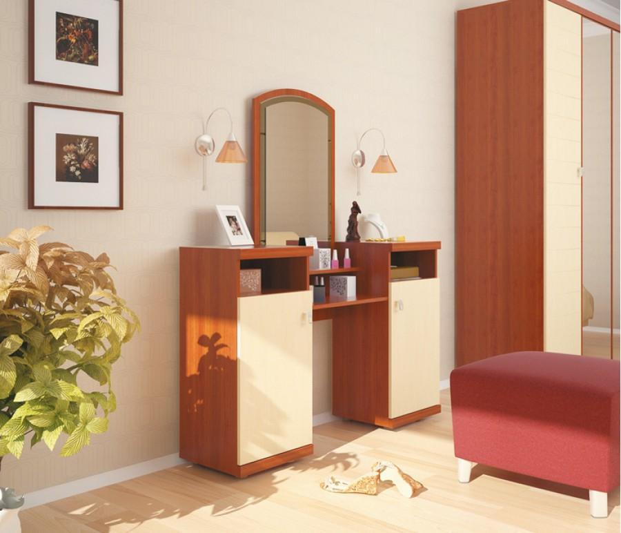Сочетание цвета корпусной мебели в интерьере