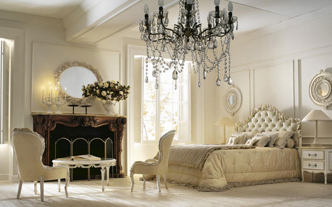 Спальня выполненная в классическом стиле интерьера