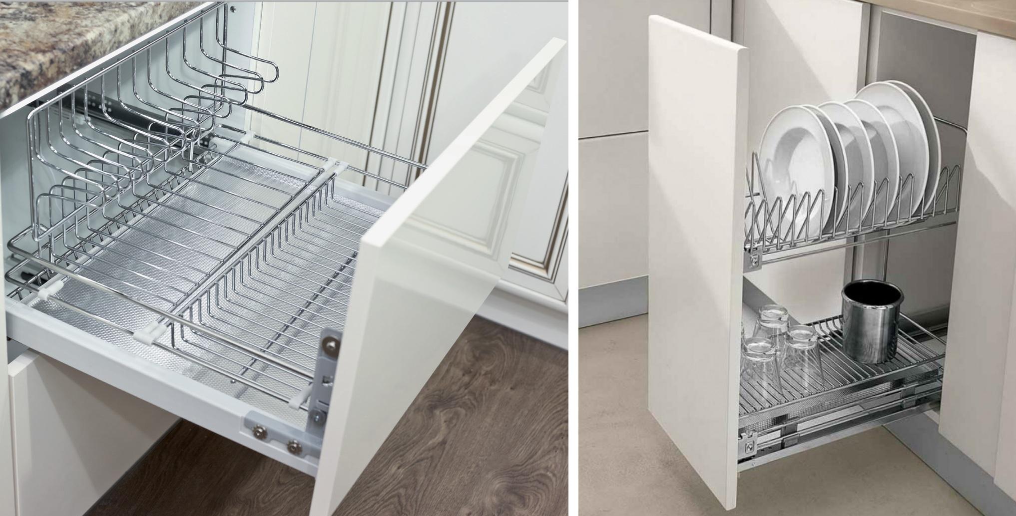 Специальная фурнитура для хранения посуды