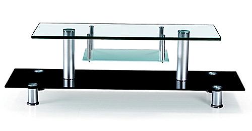 Стеклянный стол тумба
