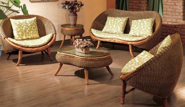 Стильная плетеная мебель в интерьере