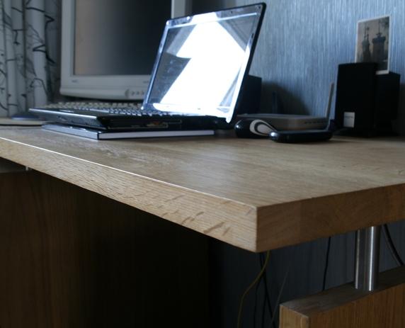 Стол из дубового мебельного щита