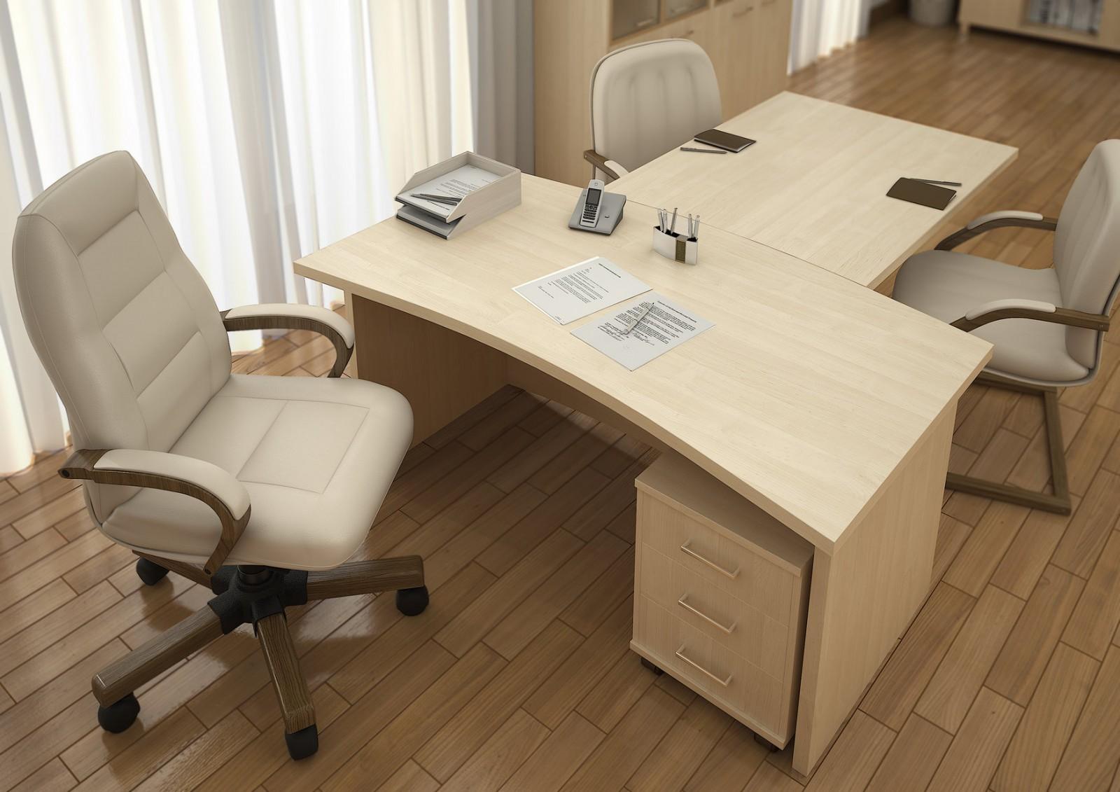 Светлая офисная мебель