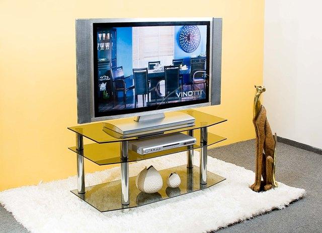 Тумба под телевизор стеклянная