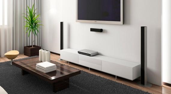 Тумба под телевизор в интерьере гостиной
