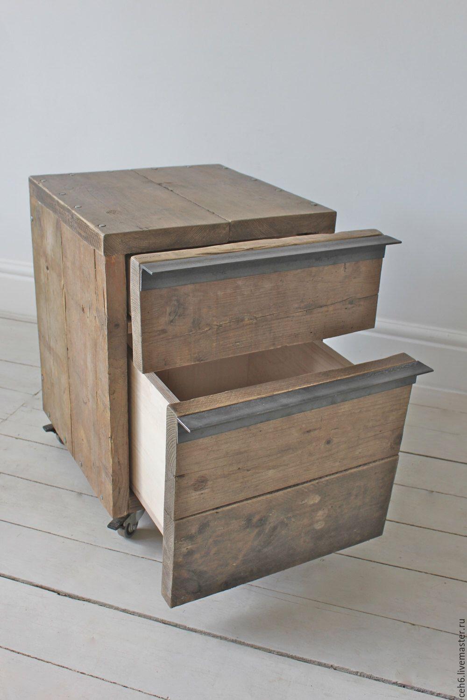 Тумбочка из деревянного ящика