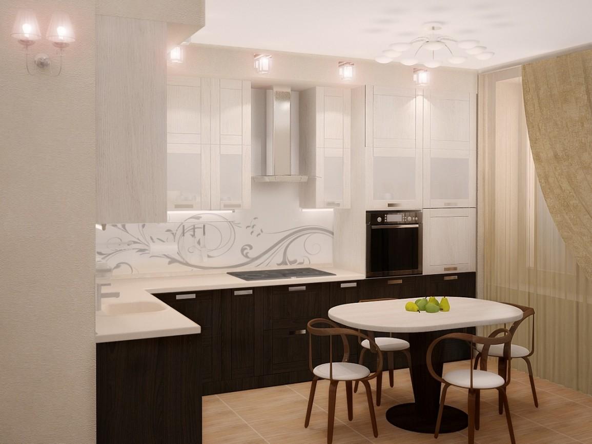 Удобная расстановка мебели в интерьере кухни