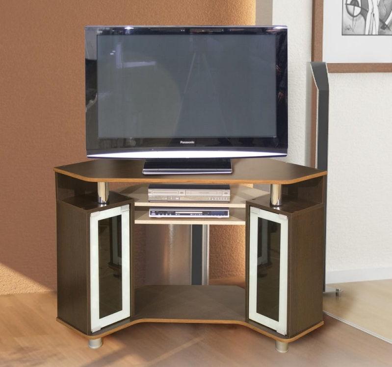 Угловая тумба под телевизор функциональная
