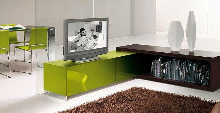 Угловая тумба под телевизор в современном стиле
