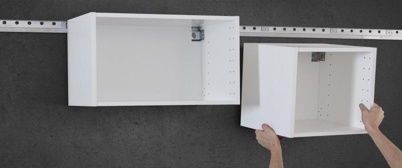 Установка навесных кухонных шкафов на стену на высоте