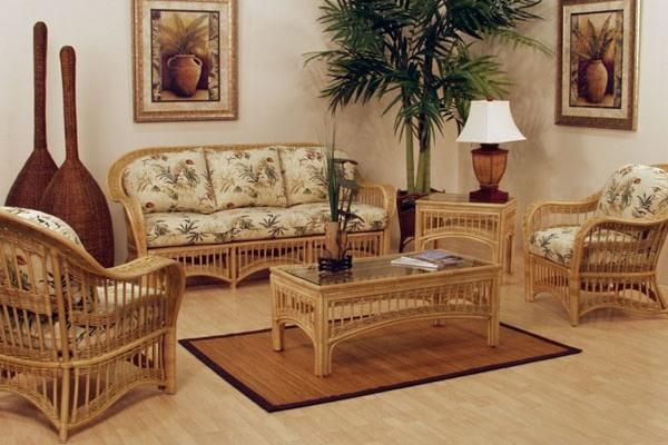 Вариант плетеной мебели