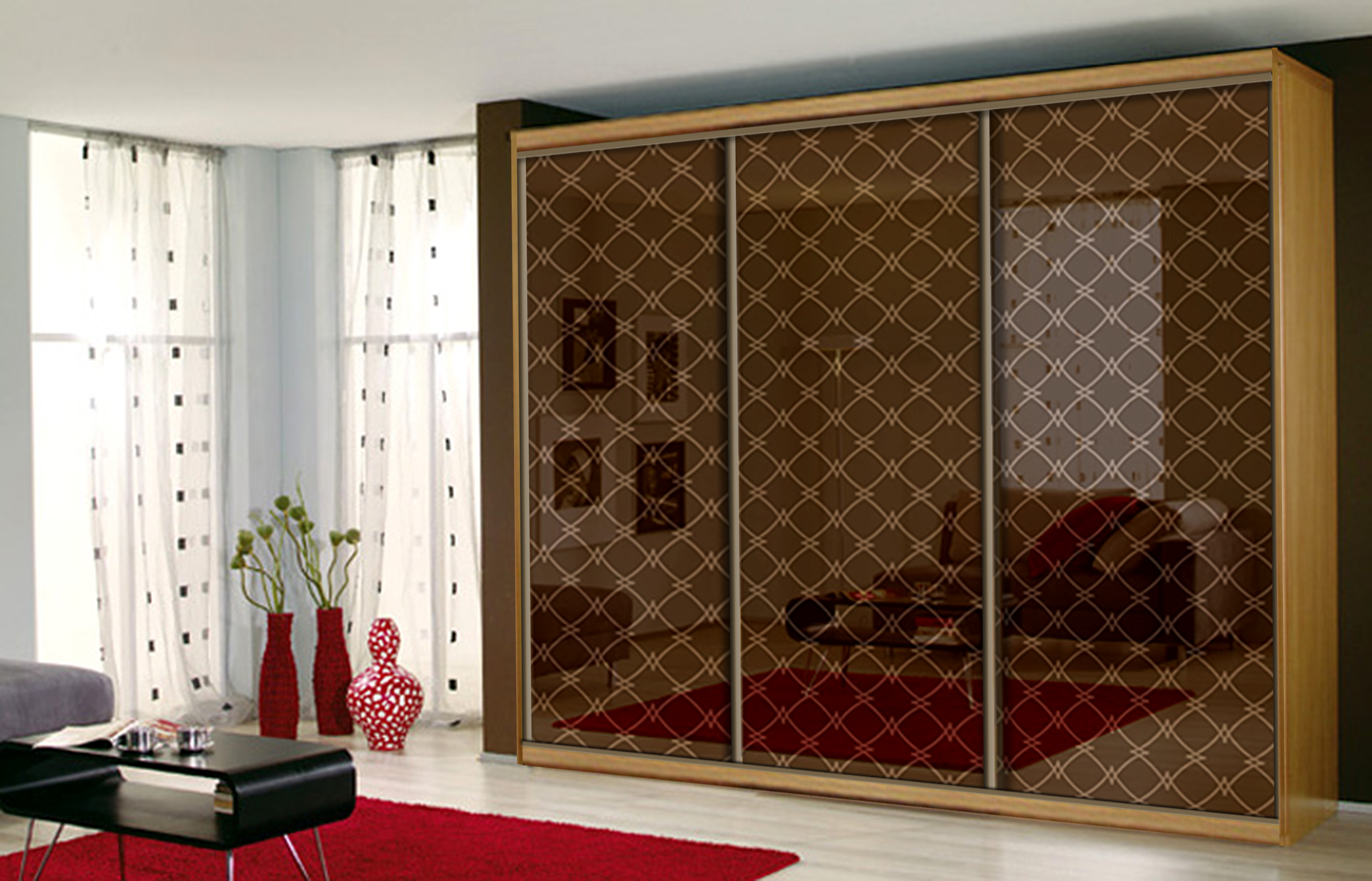 Фасад декоративное стекло