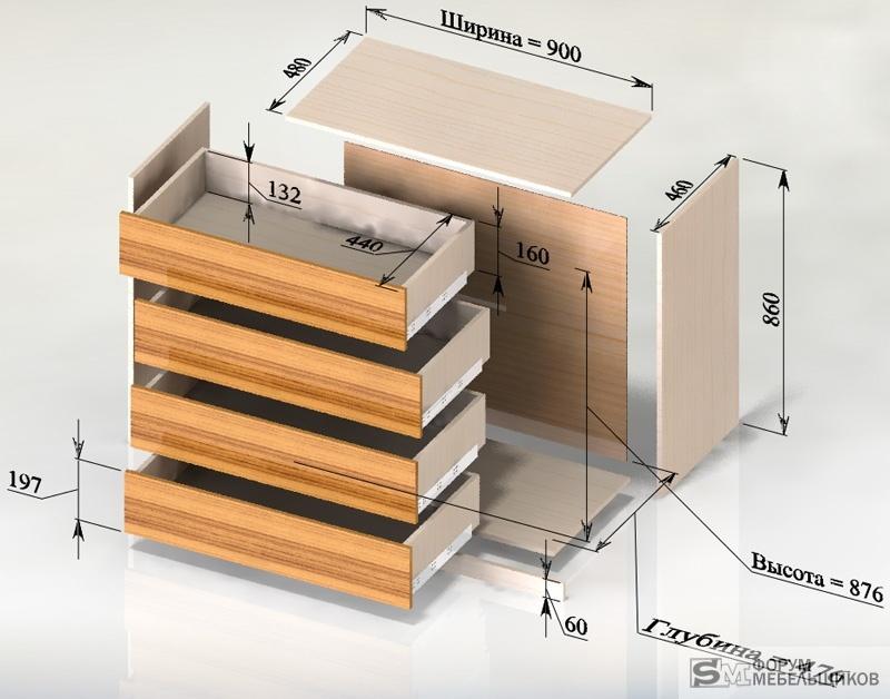 Как сделать выдвижной ящик в комоде