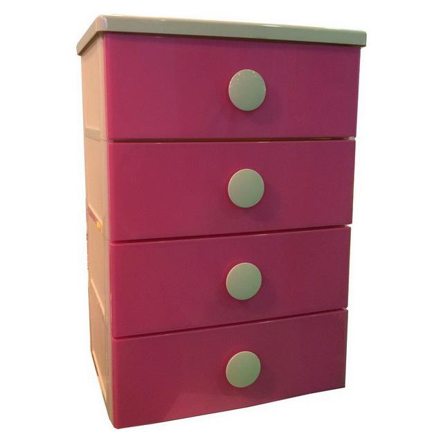 Комод розовый