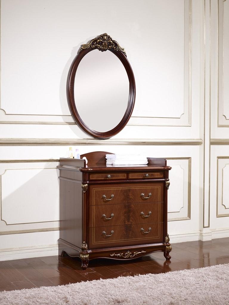 Комод с овальным зеркалом