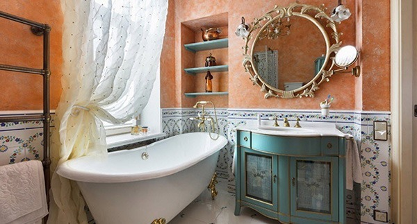 Комод в ванной комнате