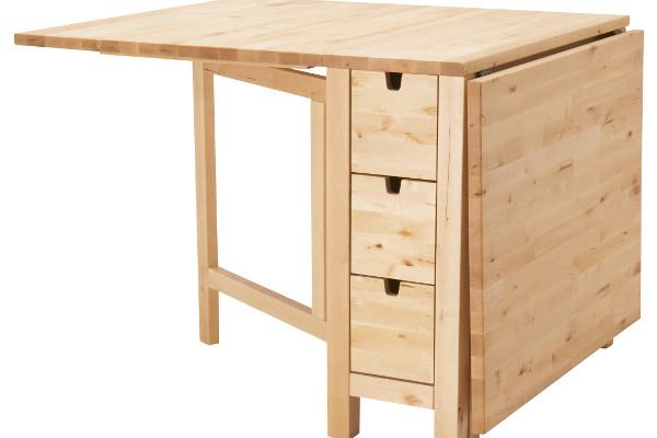 Раскладной стол тумба с ящиками