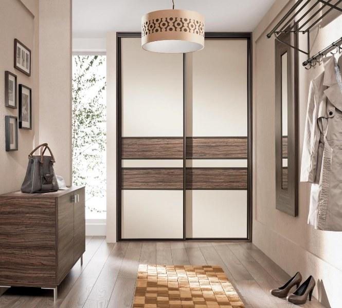 Встроенный шкаф в прихожей двустворчатый
