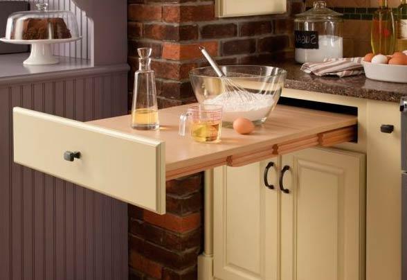 Выдвижная кухонная столешница