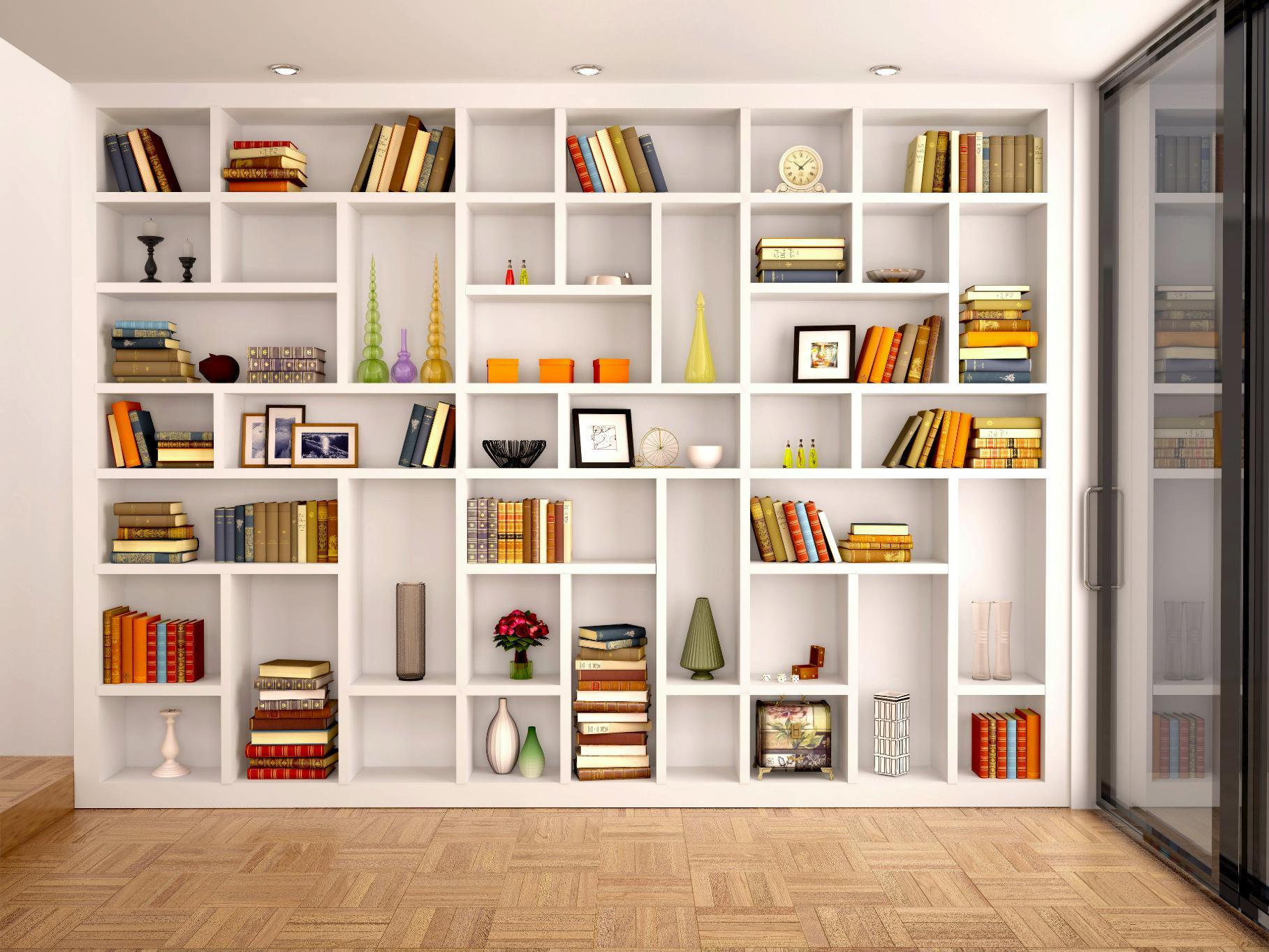Белый шкаф для книг