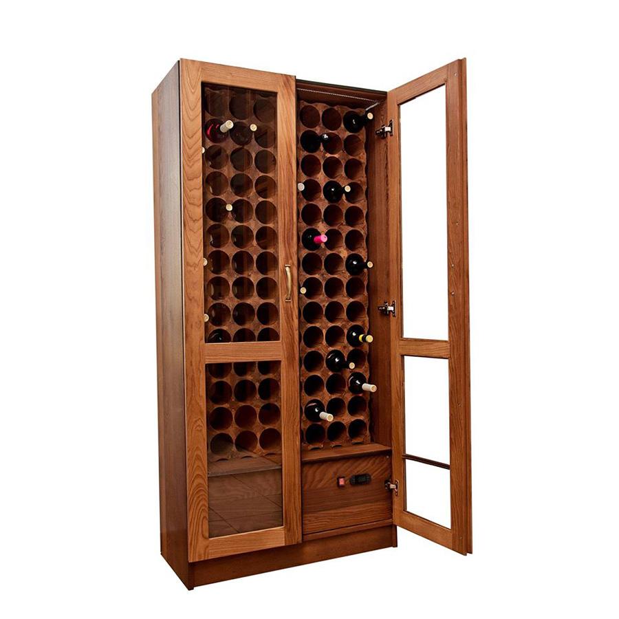 Деревянный винный шкаф витрина