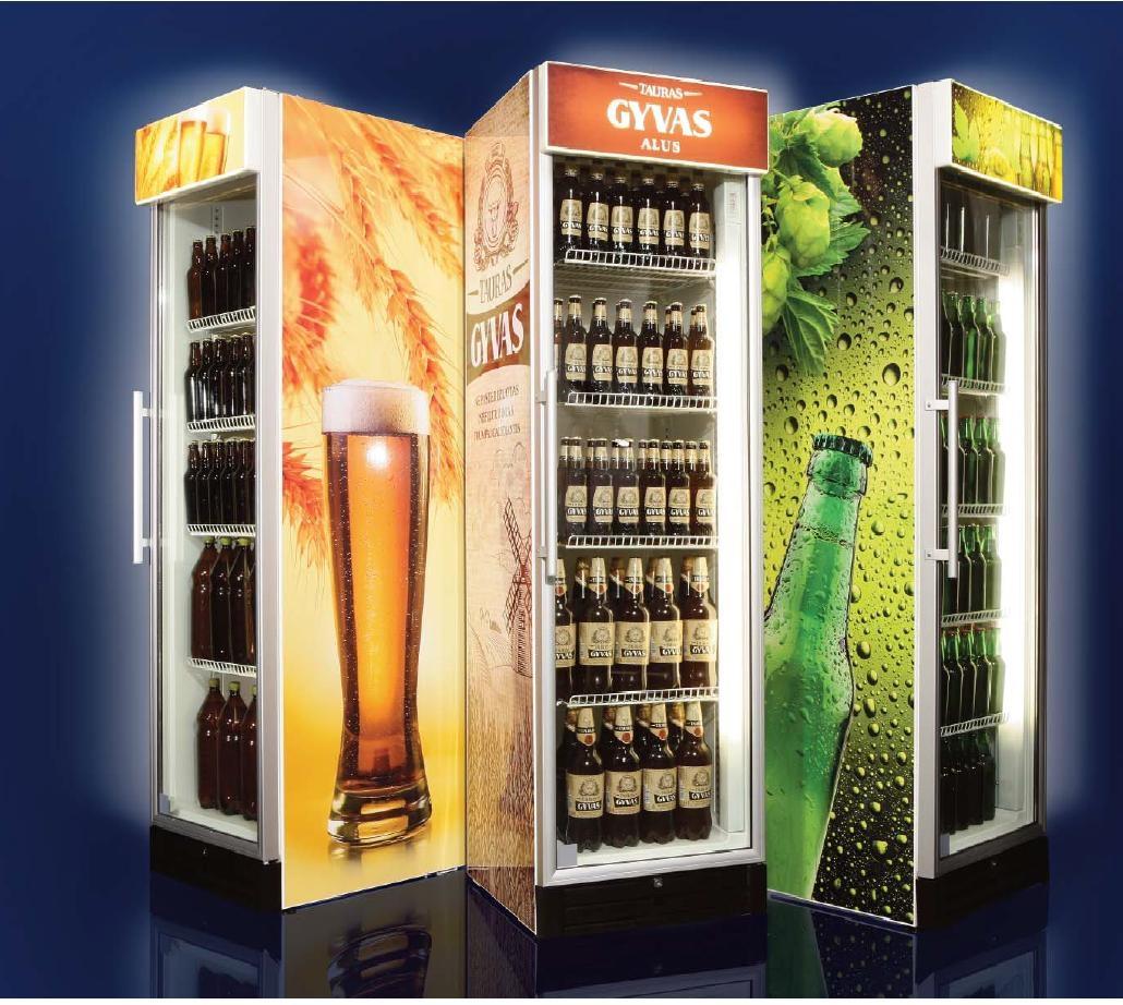 Холодильные шкафы для экспозиции напитков