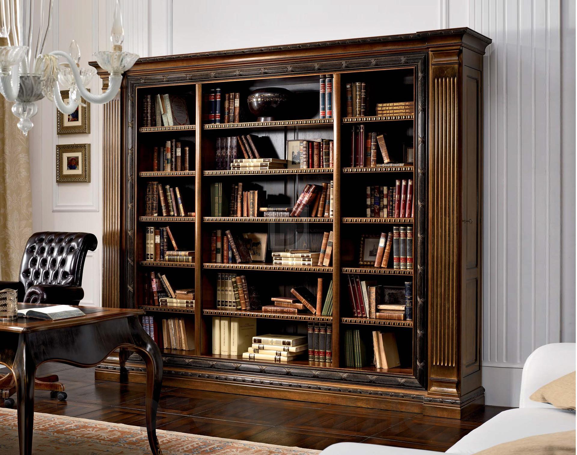 Интерьер с книжными шкафами
