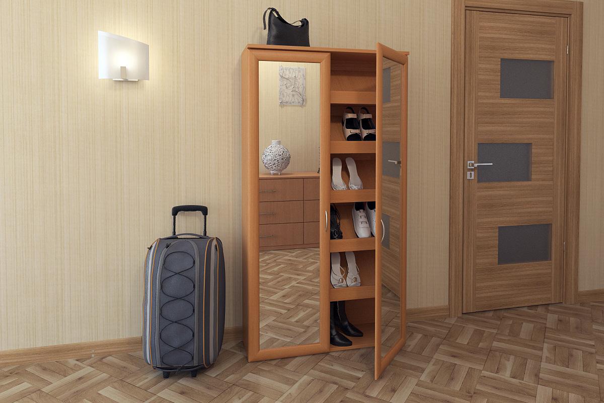 Изготовление узкого обувного шкафа