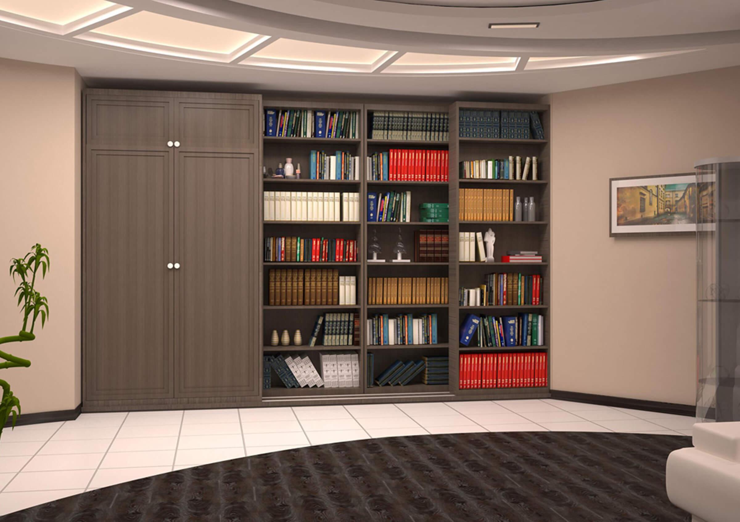 Книжный шкаф и книжные полки