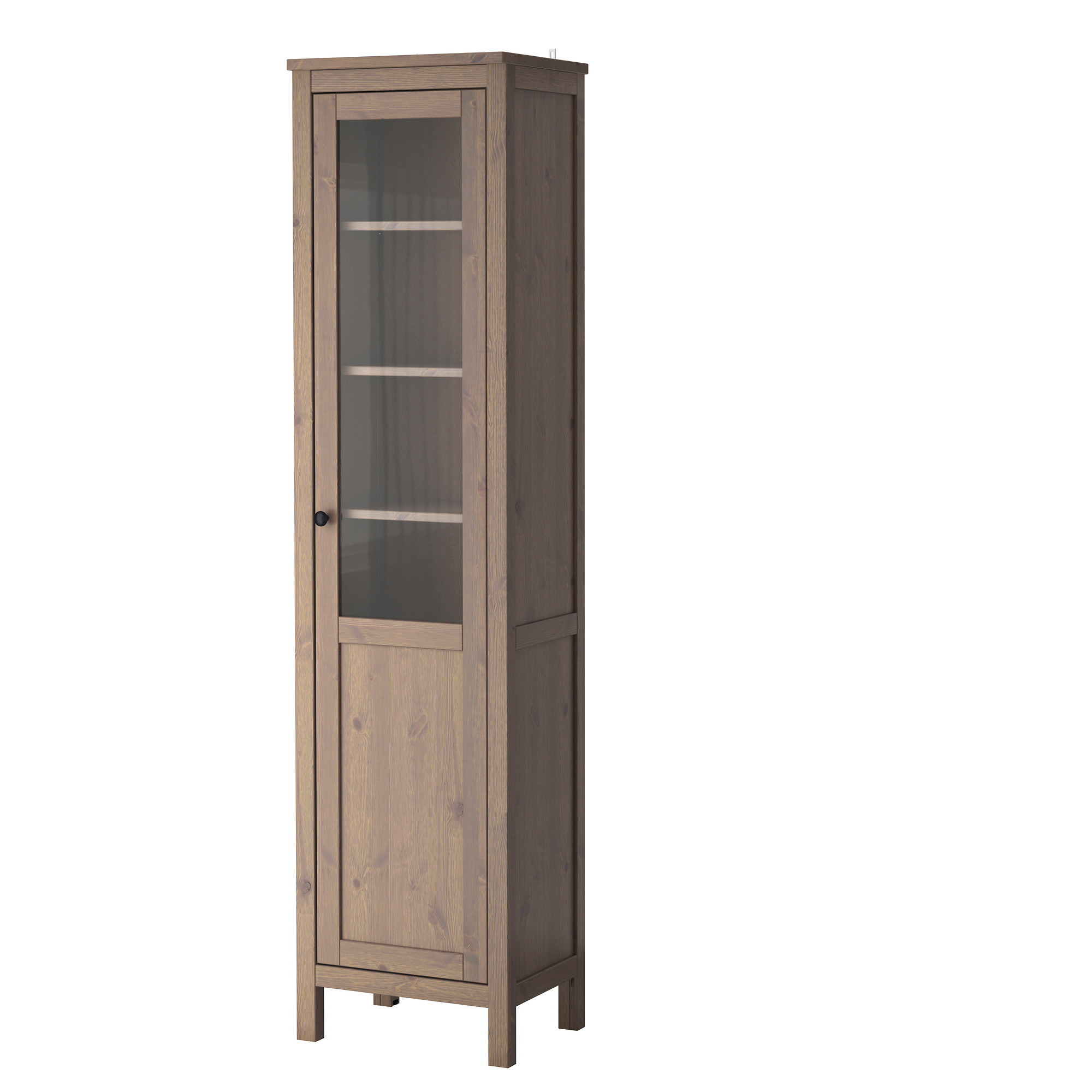 Книжный шкаф на ножках серый