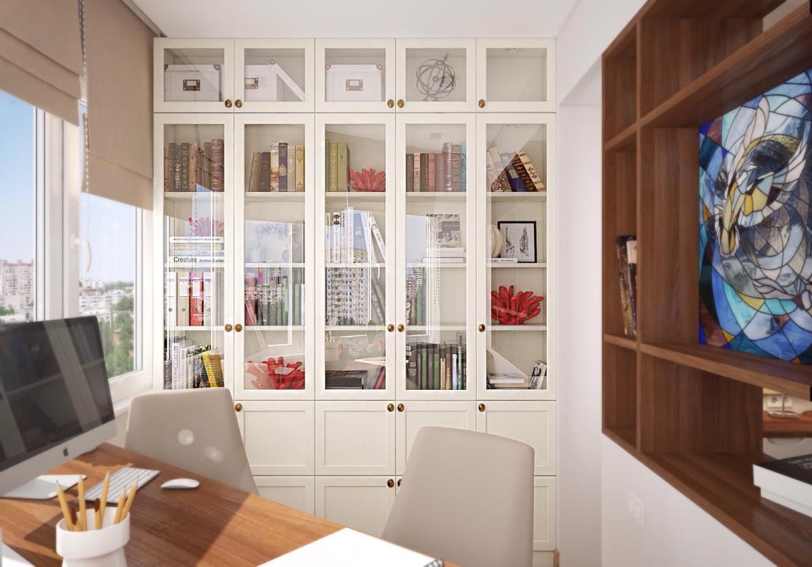 Книжный шкаф на утепленной лоджии