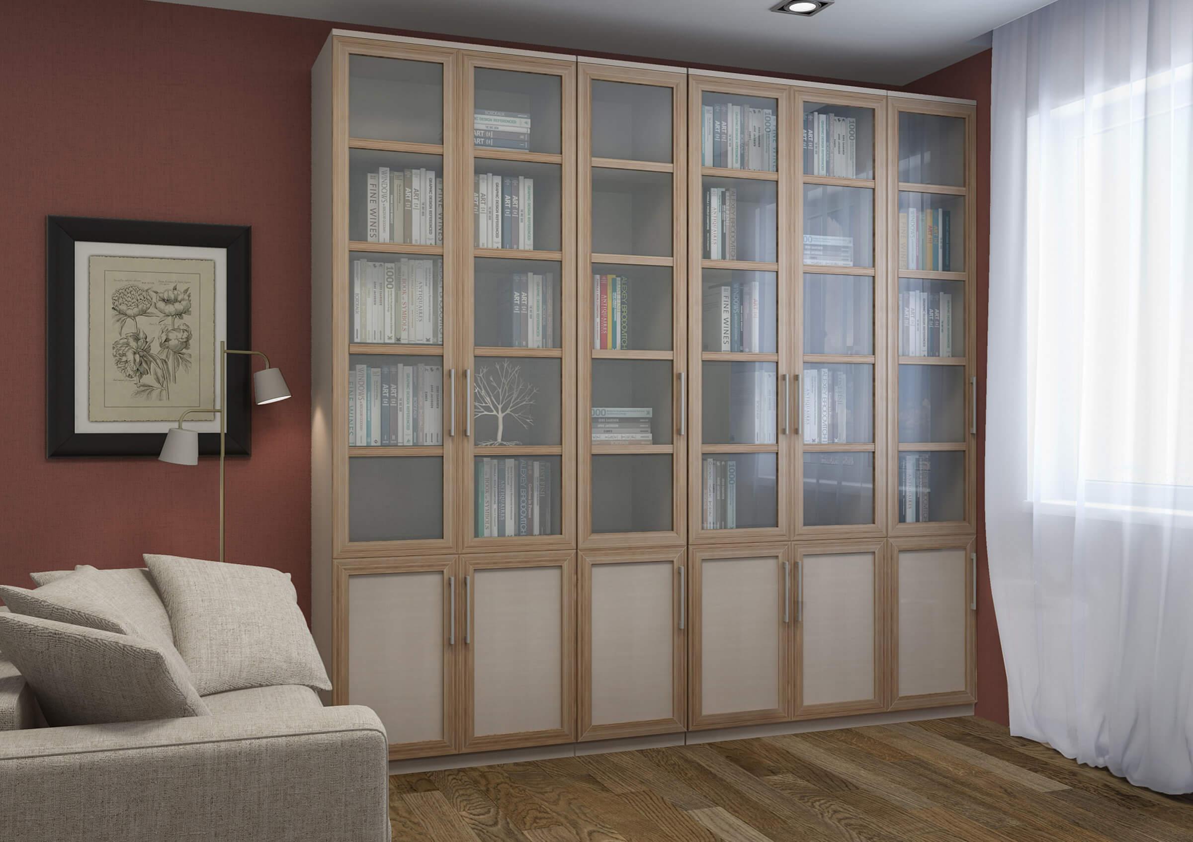 Книжный шкаф светлый