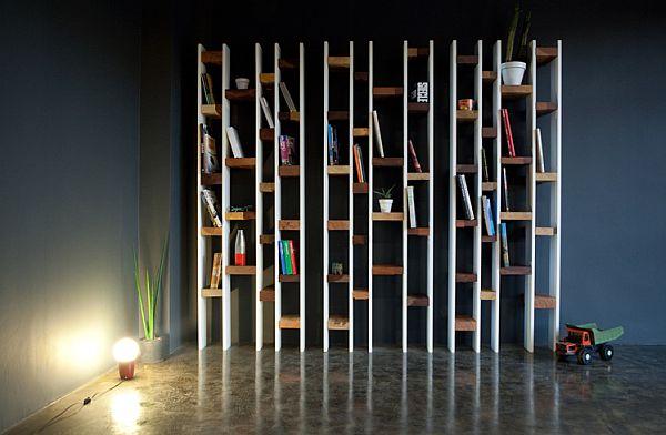 Книжный стеллаж в помещение