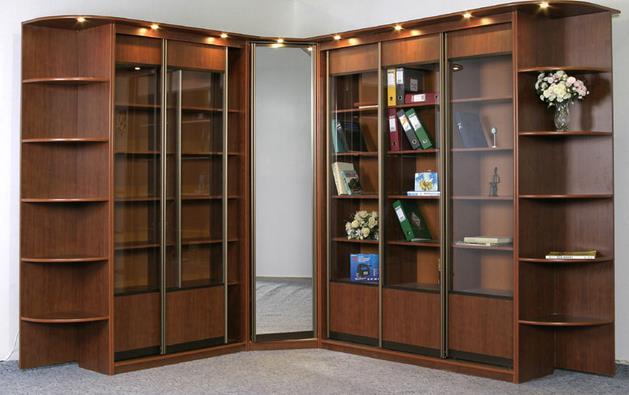Конструкция книжного шкафа