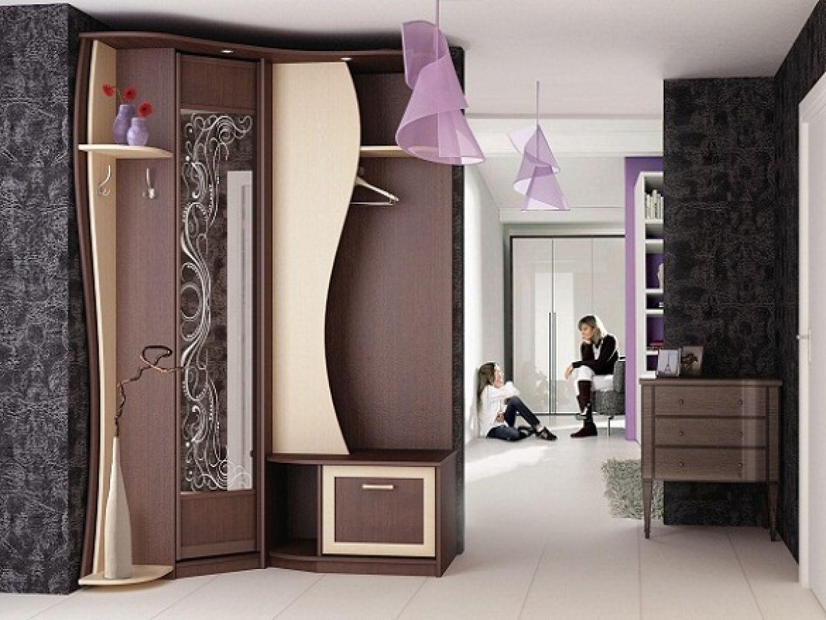 Красивая и компактная мебель для маленькой прихожей