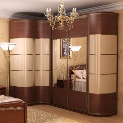 Красивая коричневая спальня