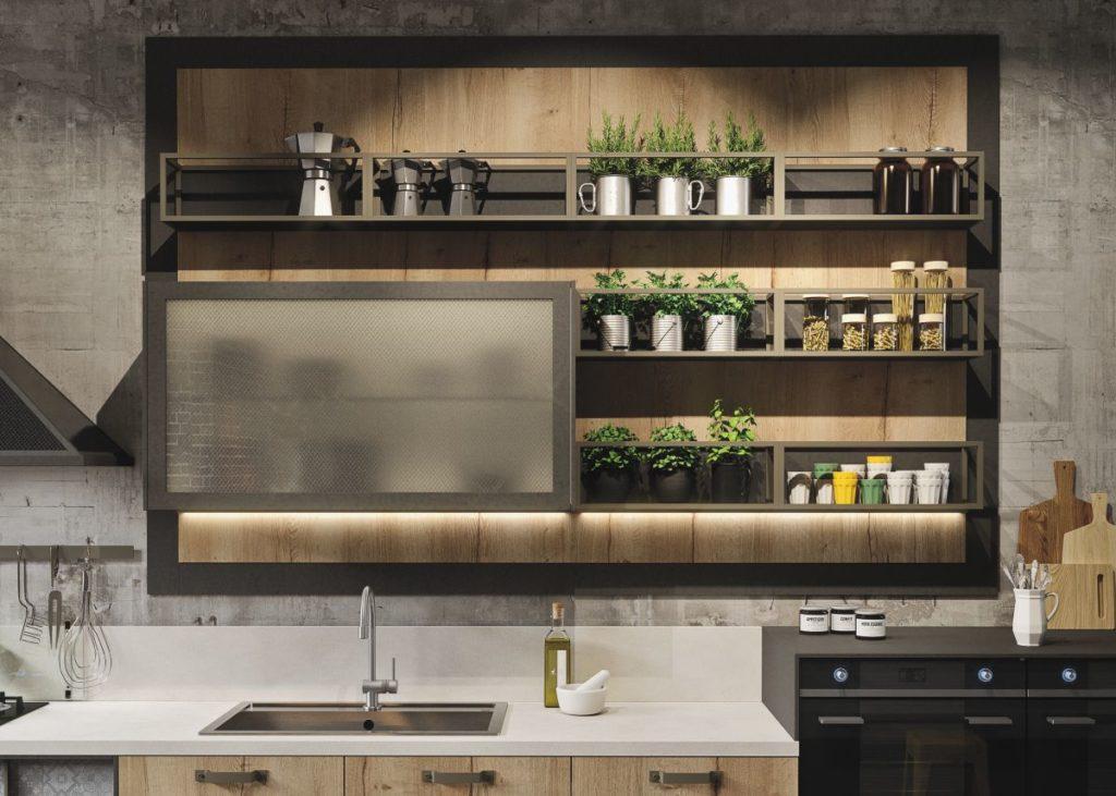 Креаитивный навесной шкаф для вашей кухни