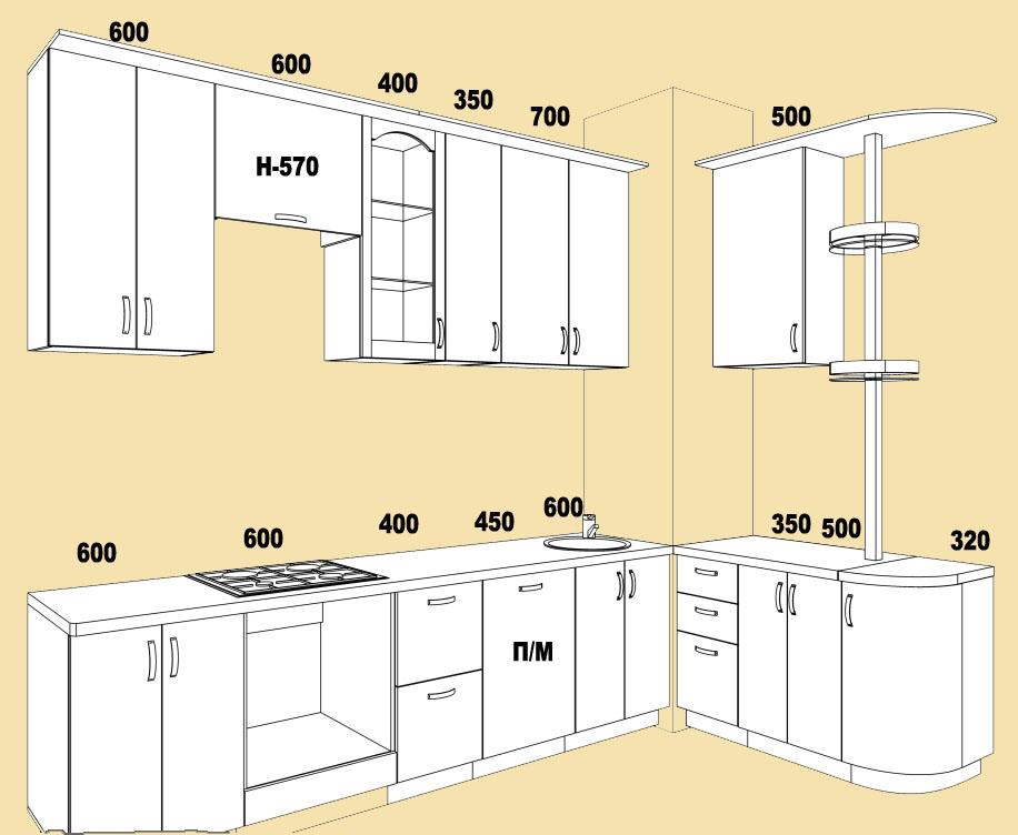 Мебель в кухне