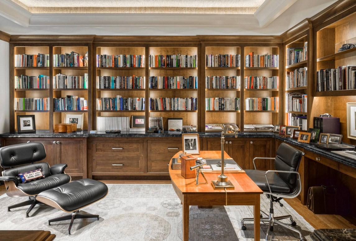 Места для установки книжных полок и шкафов