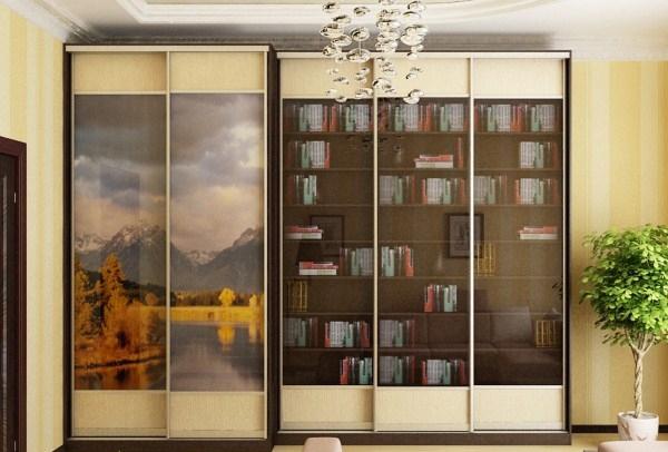 Модульный книжный шкаф