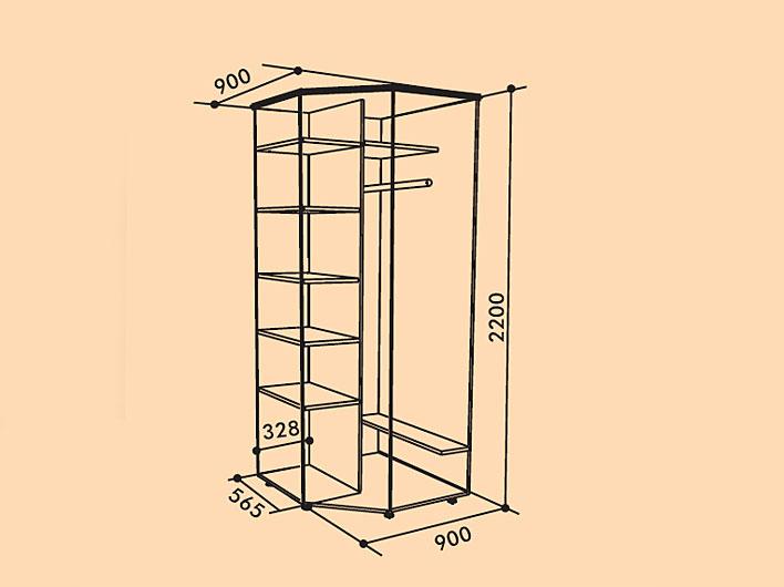 Модульный угловой шкаф