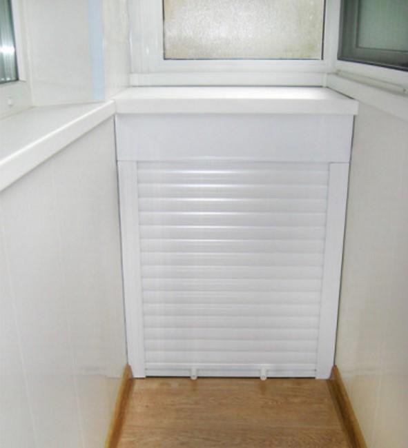 Низкий шкаф с рольставнями