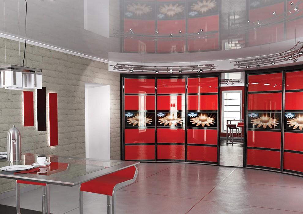 Радиусный шкафы-купе в кухню