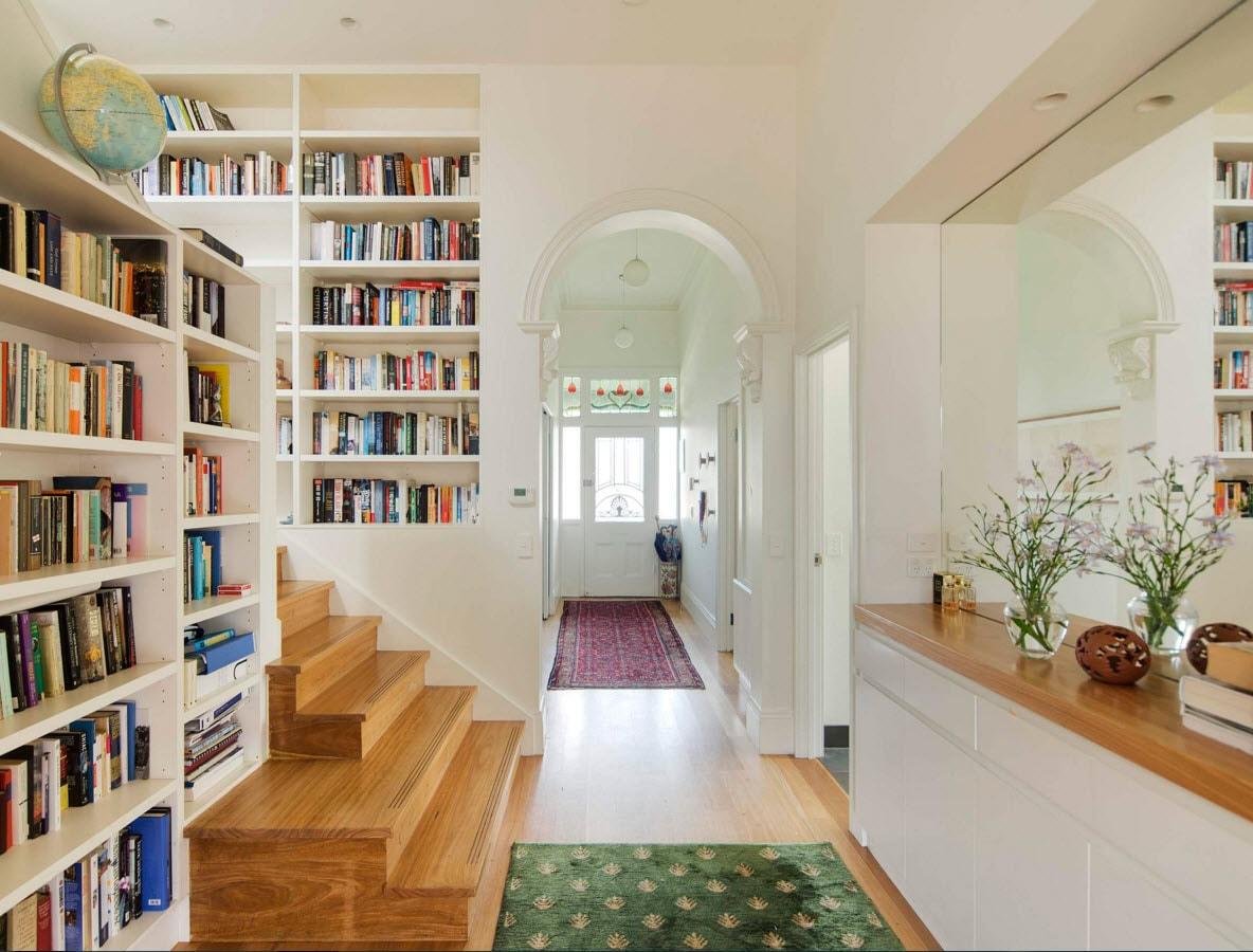 Расположение книжных шкафов